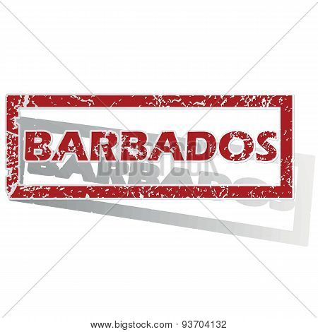 Barbados outlined stamp