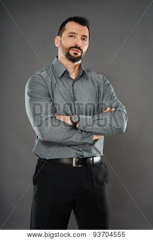Handsome Confident Businessman