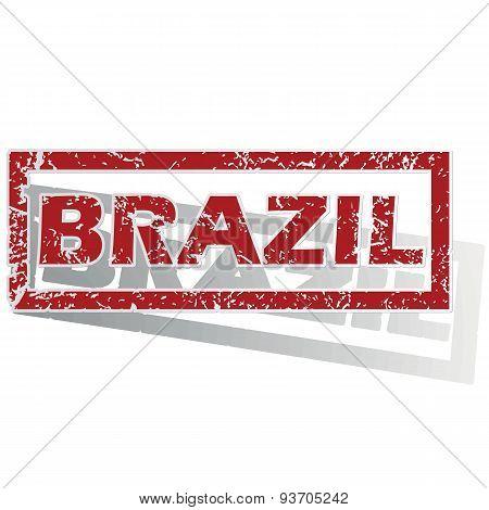 Brazil outlined stamp