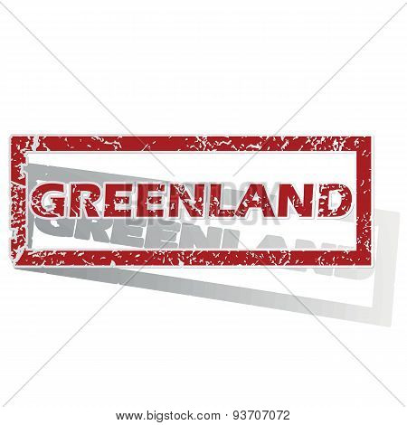 Greenland outlined stamp