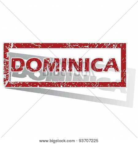 Dominica outlined stamp
