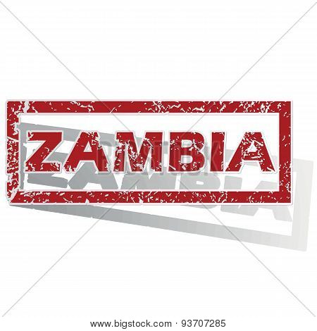 Zambia outlined stamp