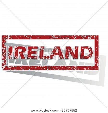Ireland outlined stamp