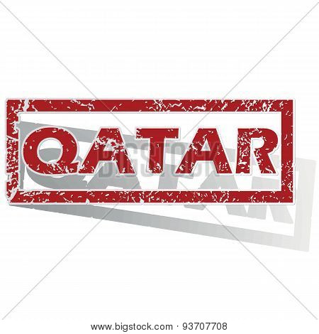 Qatar outlined stamp