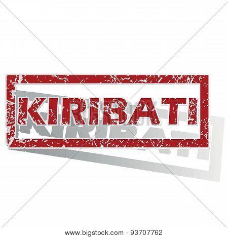 Kiribati outlined stamp