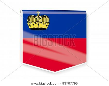 Flag Label Of Liechtenstein