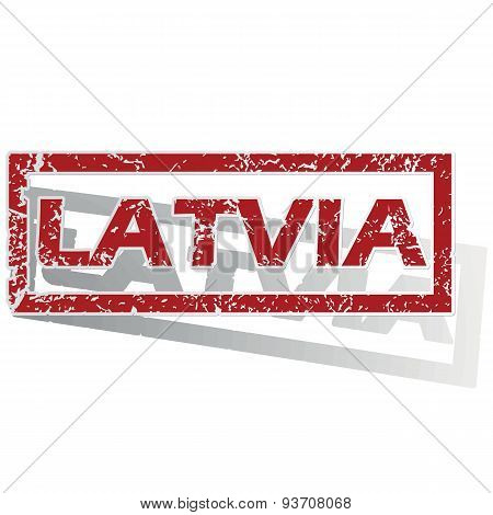 Latvia outlined stamp