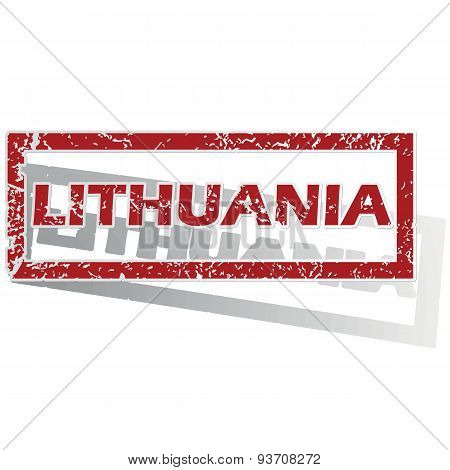 Lithuania outlined stamp