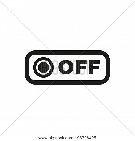The Off Button Icon. Off Switch Symbol. Flat