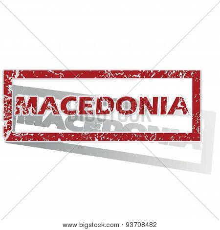 Macedonia outlined stamp