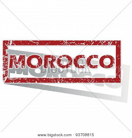 Morocco outlined stamp