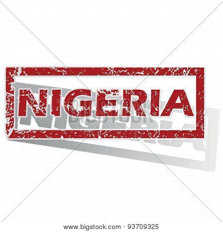 Nigeria outlined stamp