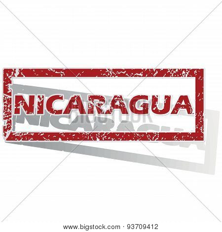 Nicaragua outlined stamp