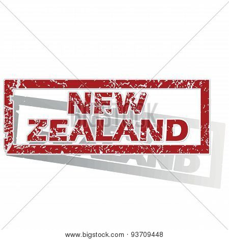 New Zealand outlined stamp