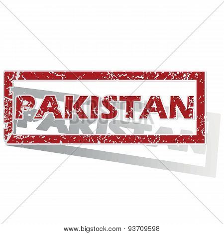 Pakistan outlined stamp