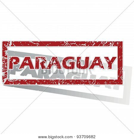 Paraguay outlined stamp