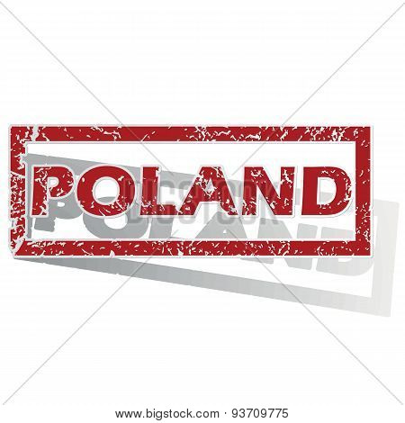 Poland outlined stamp
