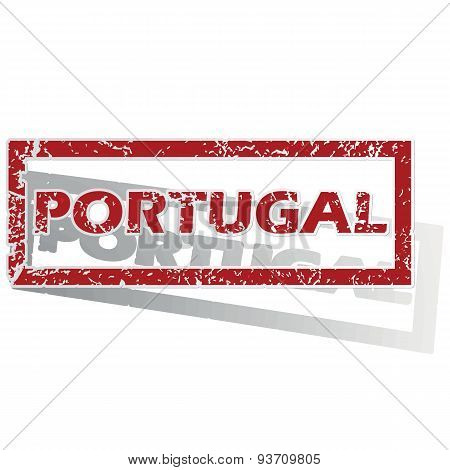 Portugal outlined stamp
