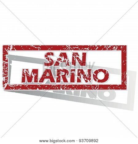 San Marino outlined stamp