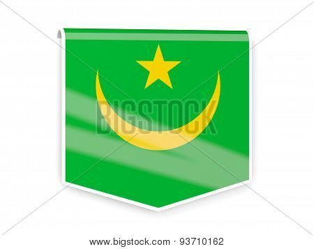 Flag Label Of Mauritania
