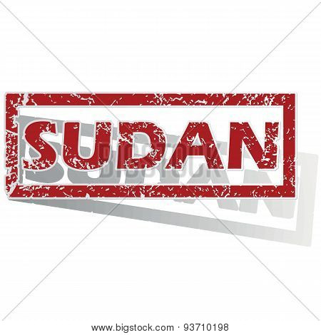 Sudan outlined stamp