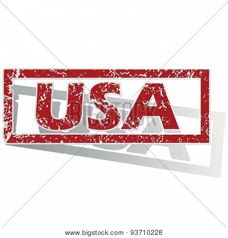 USA outlined stamp