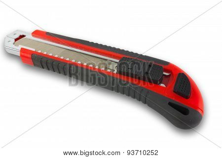 Box cutter knife isolated on white