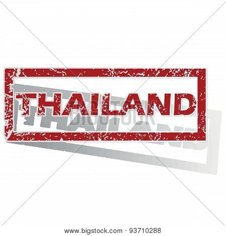 Thailand outlined stamp