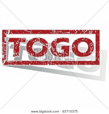 Togo outlined stamp