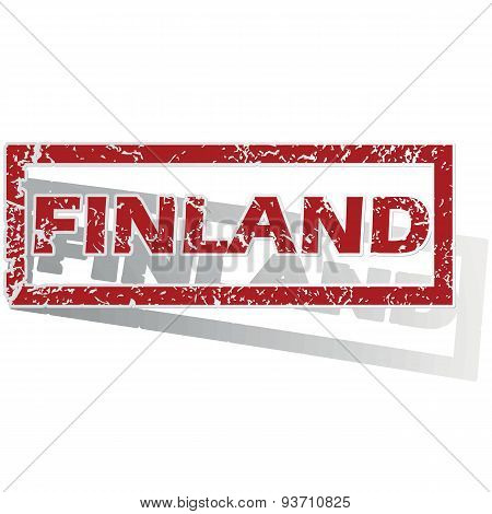 Finland outlined stamp