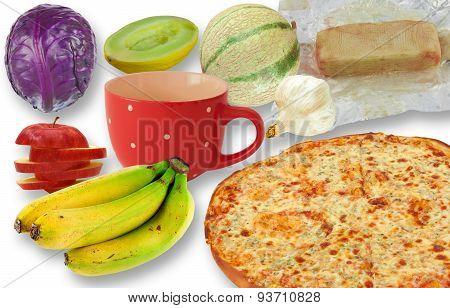Junk food vs fruit and vegetables