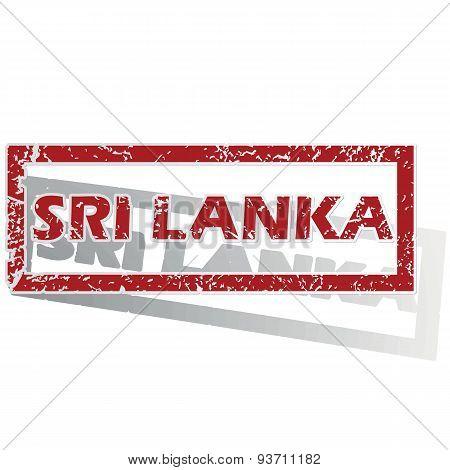 Sri Lanka outlined stamp