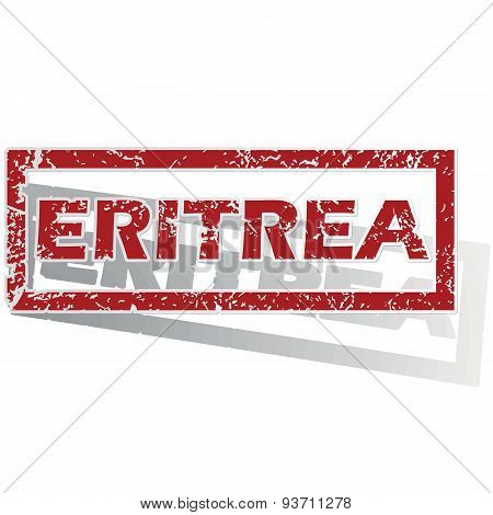 Eritrea outlined stamp