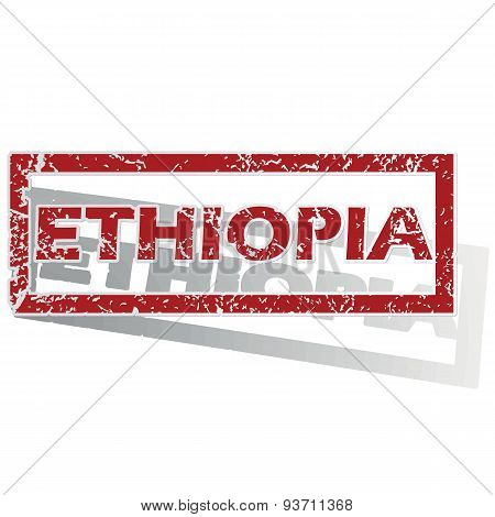 Ethiopia outlined stamp