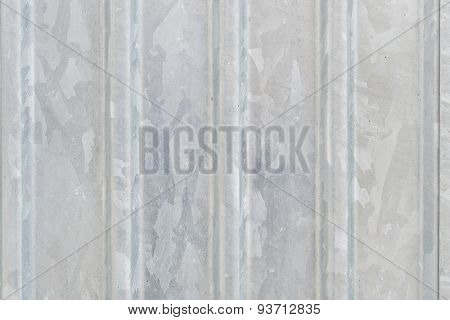 Grey steel wall
