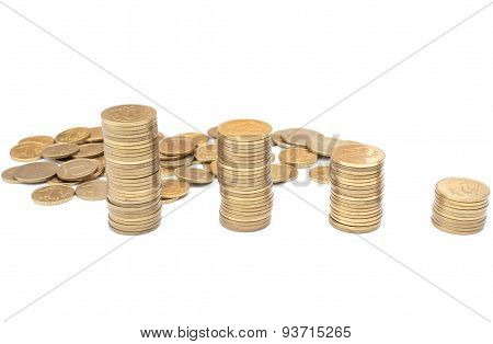 Coins Isolated On White Background