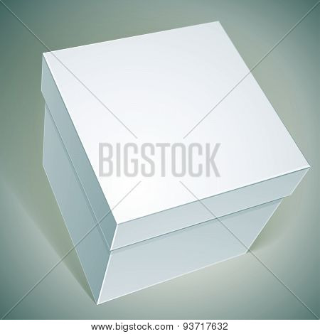 Vector blank box, template for your package design, put your image over the pack in multiply mode