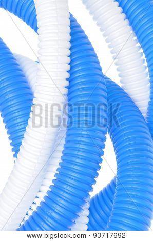 Flexible plastic corrugated pipes