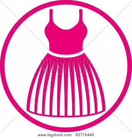 Cloth icon, vector illustration of dress