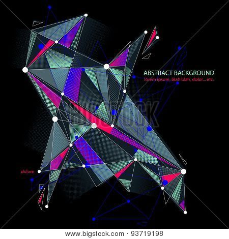 Abstract mesh vector illustration, template for technology theme layouts. Connection