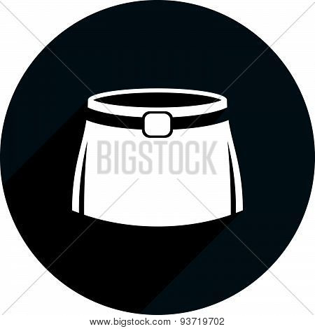 Skirt vector icon isolated.