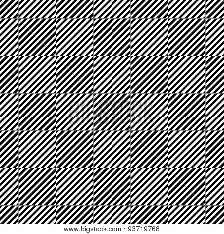 3d cubes seamless pattern, black and white vector background.