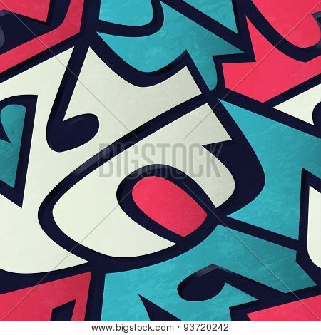 Graffiti Geometric Seamless Pattern
