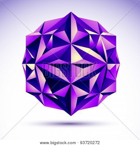 Vector abstract 3D object, design element template for technology theme projects, clear eps8.