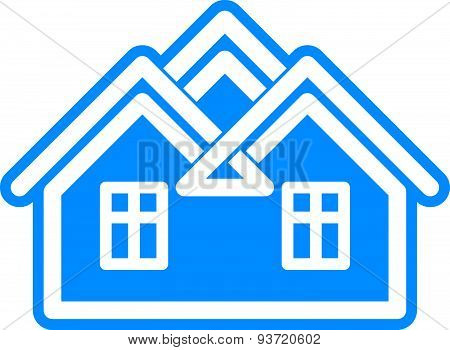 Simple architectural construction, house abstract symbol, can be used for branding in insurance, rea