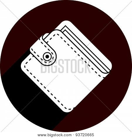 Wallet vector icon isolated.