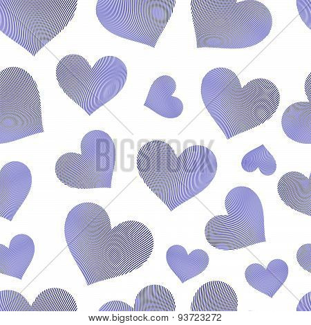 Valentines day vector conceptual art backdrop, loving hearts. Love theme seamless background