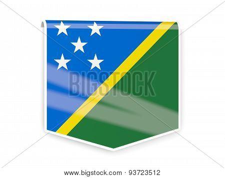 Flag Label Of Solomon Islands