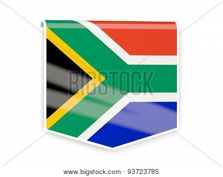 Flag Label Of South Africa
