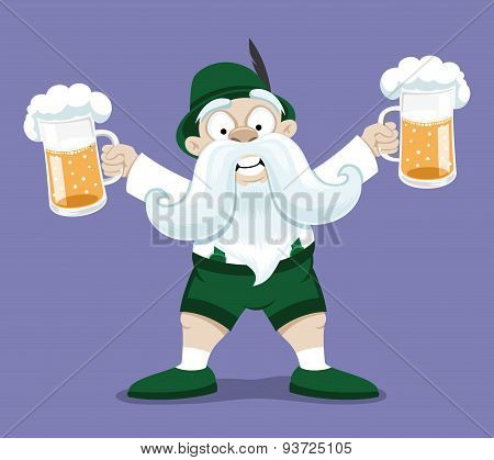 Bavarian man with beer.